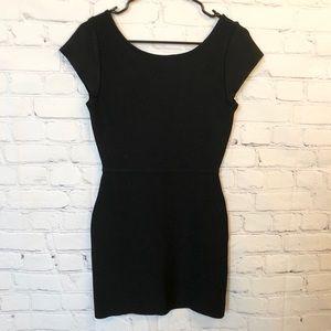BCBG Maxazria black bodycon dress